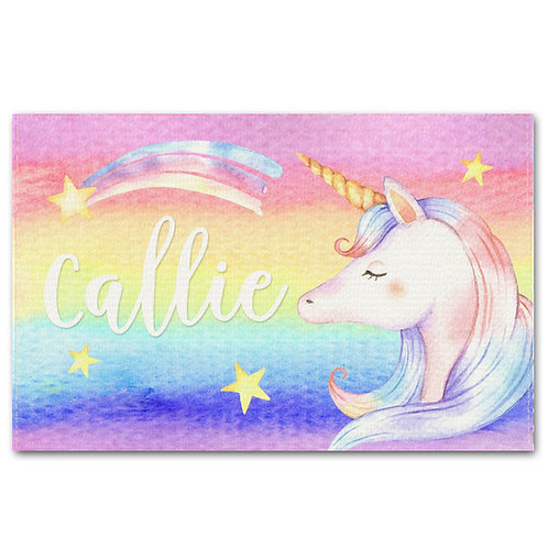 Rainbow Unicorn LINEN PLACEMAT
