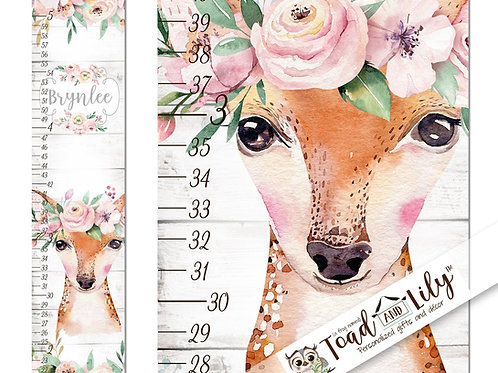 Floral Deer GROWTH CHART