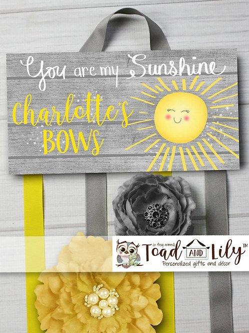 Sunshine HAIR BOW HOLDER