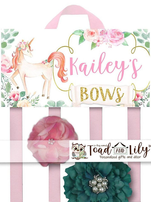 Floral Unicorn HAIR BOW HOLDER