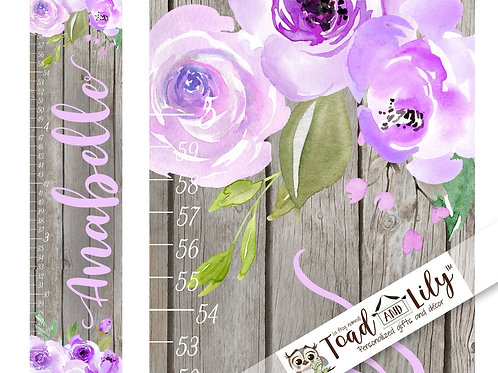 Lilac Floral GROWTH CHART