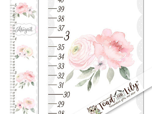 Pink Floral GROWTH CHART