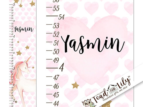 Pink and Gold Unicorn GROWTH CHART