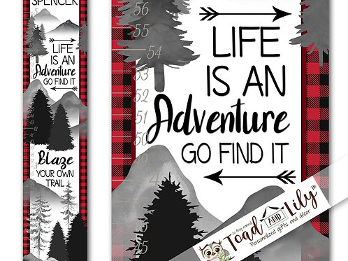 Red Plaid Adventure GROWTH CHART