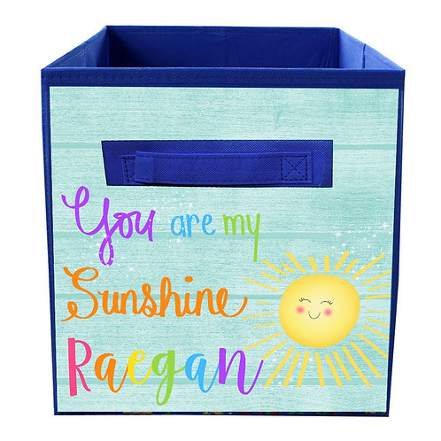 Rainbow Sunshine FABRIC BIN