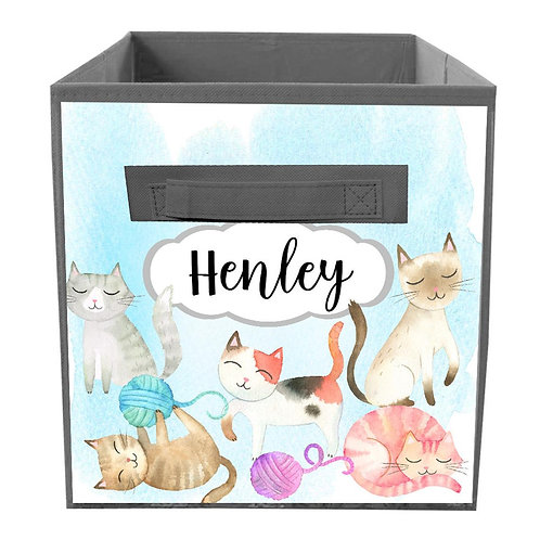Playful Cats FABRIC BIN