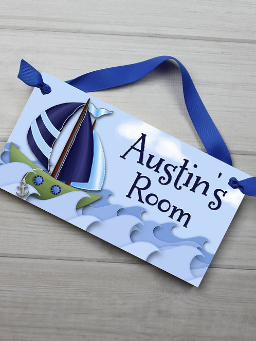 Sail Boat DOOR SIGN