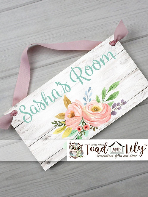 Multicoloured Floral Bouquet DOOR SIGN