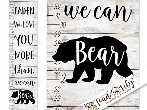 Rustic Bear GROWTH CHART