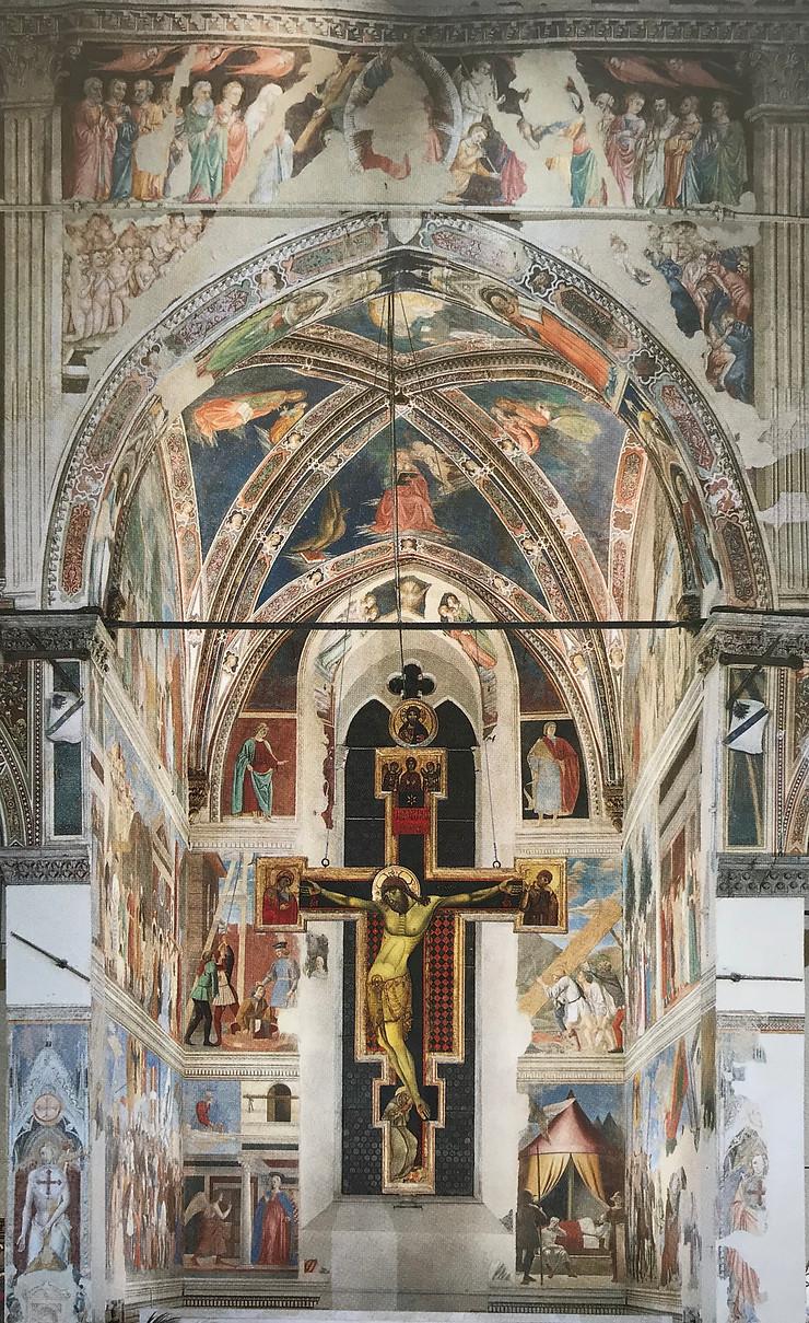 Piero della Francesca e la Leggenda della Vera Croce (1452-1466) affresco, tempera a olio. Arezzo, basilica di San Francesco, cappella maggiore, coro.