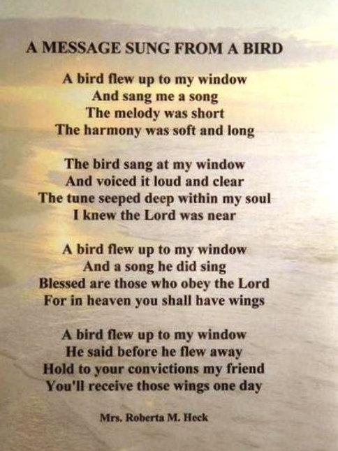 A Message Sung From A Bird Plaque
