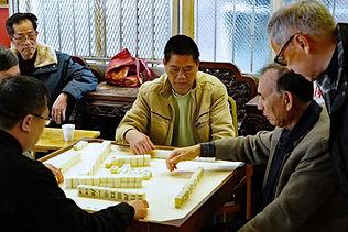 Chinatown men playing games
