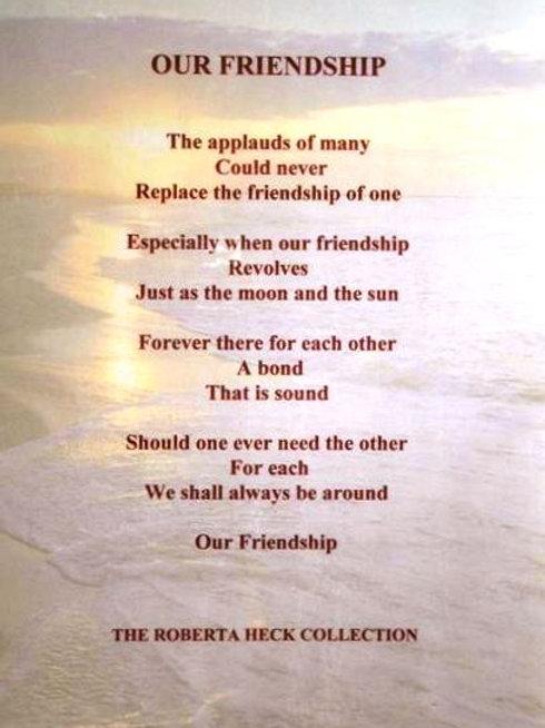 Our Friendship Plaque