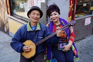 maggiewong with man in Chinatown