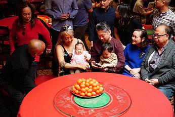 Chinatown family celebrating