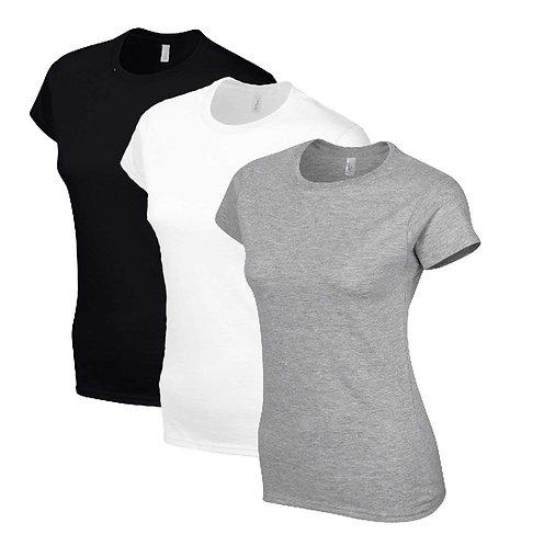 Crew Neck Ladies T Shirts Personalised