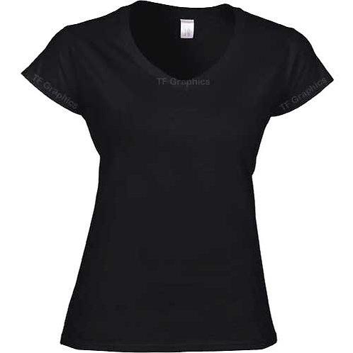 V Neck Ladies T Shirts Personalised