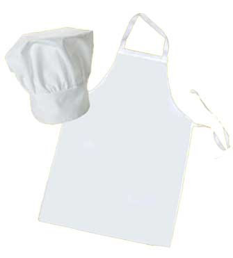 Childs Chef Hat and Apron Set Personalised