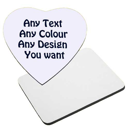 Fabric Topped Mousemat - 3 Sizes Available - Personalised