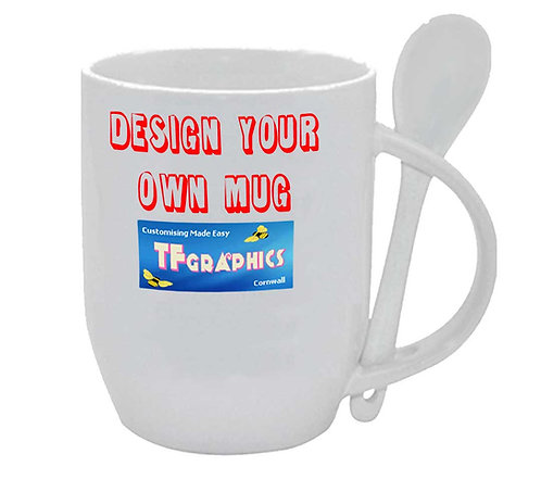 12oz Marrow mug & Spoon - Personalised to your Design