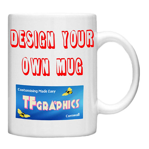11oz Personalised Photo Mug - Choice off different handles and inner colours