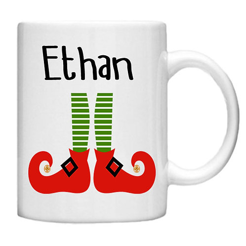Christmas Elf Mug - Customised with your name!