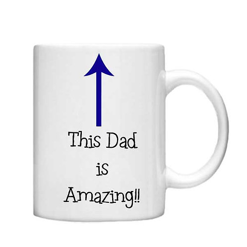 This Dad is Amazing 11oz Mug - Choice off different handles and colours