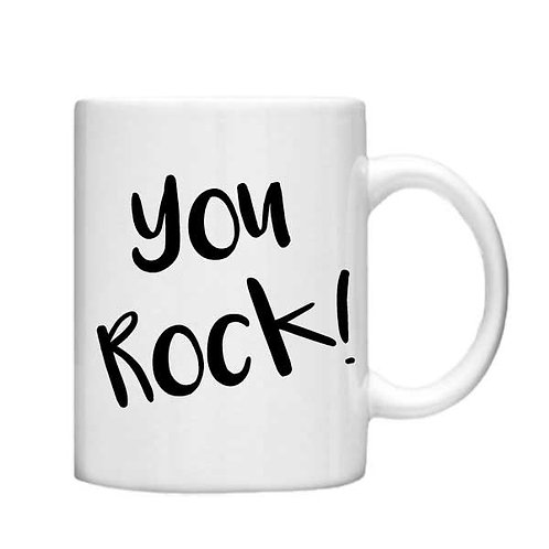 You Rock 11oz Mug - Choice off different handles and colours