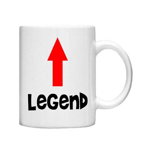 Legend -11oz mug - Choice off different handles a colour