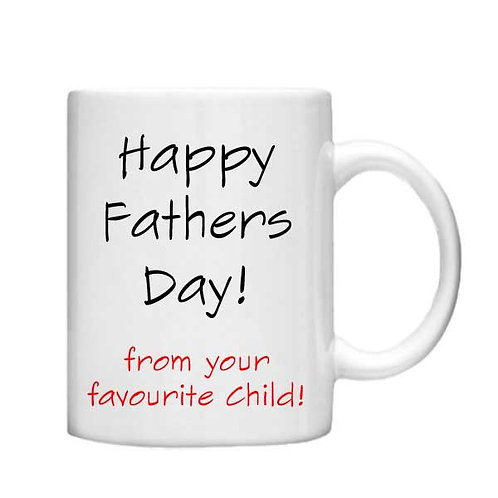 Happy Fathers Day 11oz Mug - Choice off different handles and colours