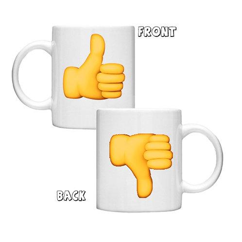 Thumbs Up Thumbs Down - 11oz Mug Design