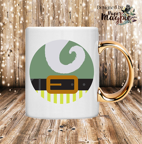Elfie 11oz Gold Handle Mug
