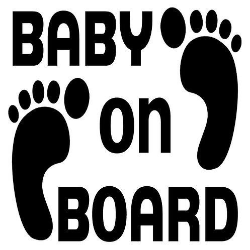 Baby on Board Vinyl Sticker