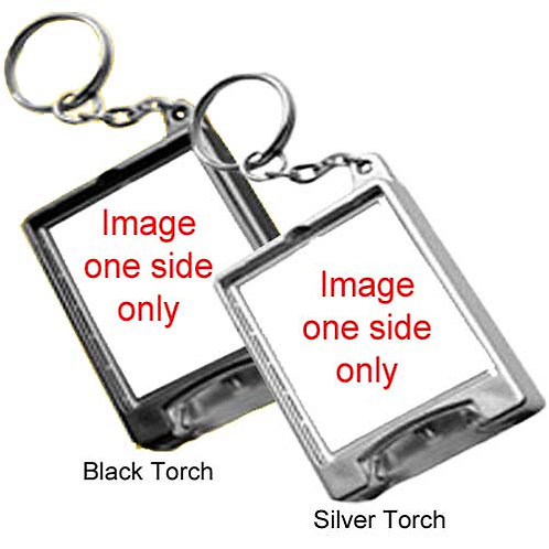 Torch Keyring - 2 Colour Bodies avaliable - Personalised