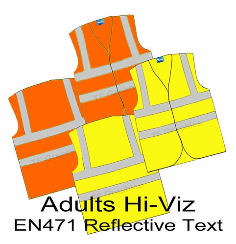Adult Hi-Viz Waistcoat - Personalised using EN471 Reflective Vinyl