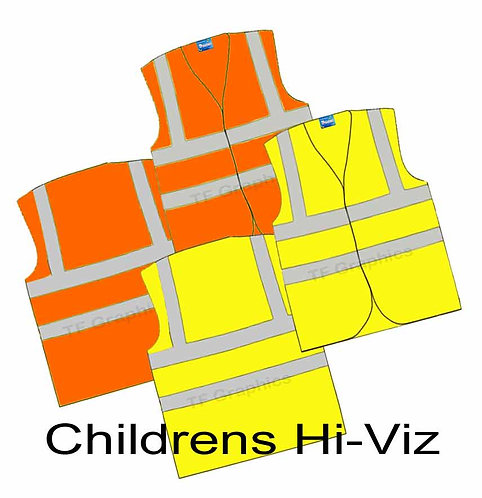 Childrens Hi-Viz Waistcoat - Personalised