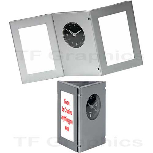 Clock & Image Desk Tidy - Personalised