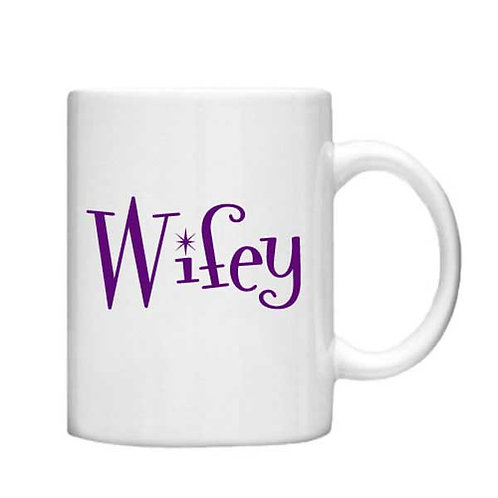Wifey 11oz Mug - Choice off different handles and colours