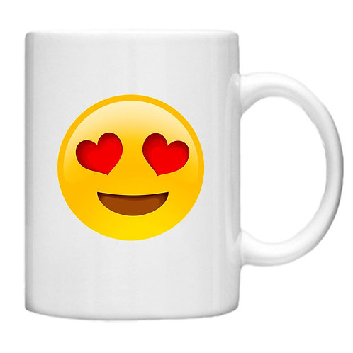 Heart Eyes Smiley Face Emoji - 11oz Mug Design