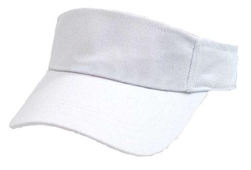 White Sun Visor Personalised