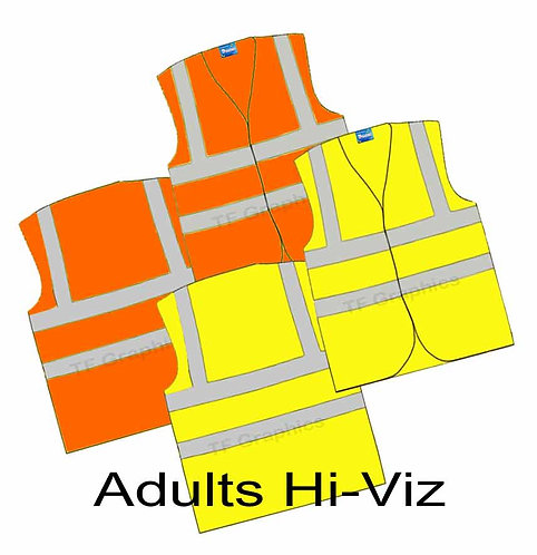 Adult Hi-Viz Waistcoat - Personalised