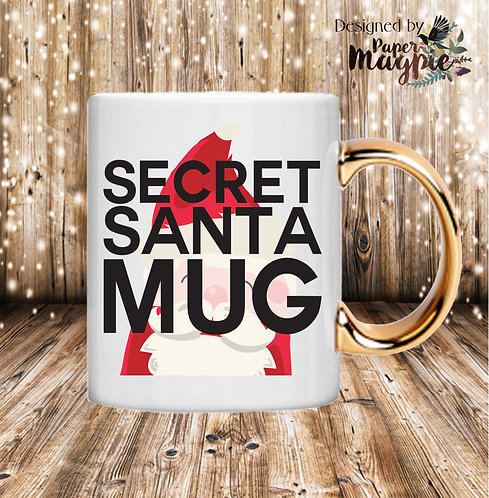 Secret Santa 11oz Gold Handle Mug