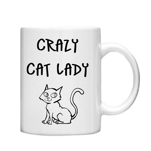 Crazy Cat Lady 11oz Mug - Choice off different handles and colour