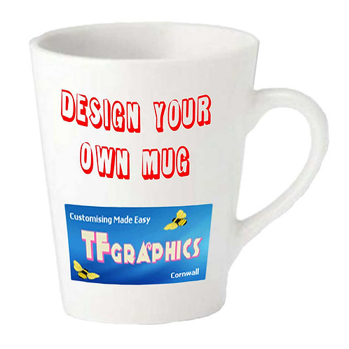 12oz Latte Mug - Personalised to your Design