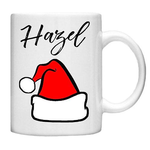 Christmas Santa Hat Mug - Customised with your name!