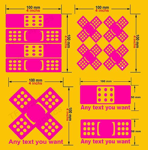 Custom Vinyl OOP's Plasters 4 designs to choose from