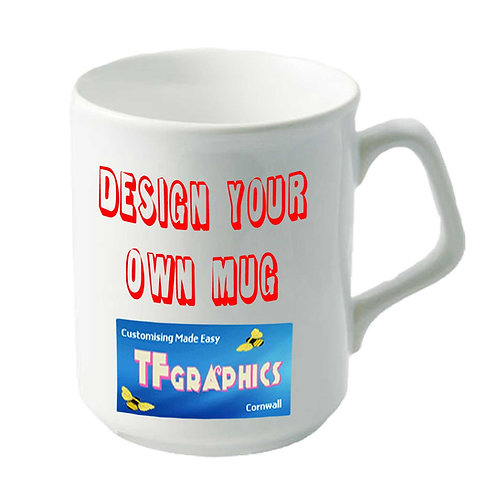 10 oz Fluted lip Sparta Mug - Personalised to your Design