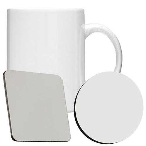Mug, MDF Coaster Set - Personalised