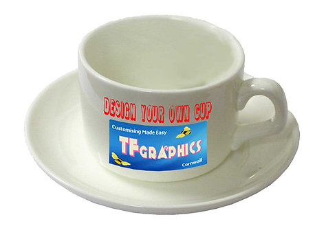Cup and Saucer - Personalised to your Design