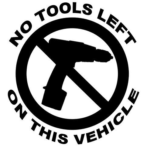 No Tools Logo Vinyl Car/ Window  Vinyl Sticker